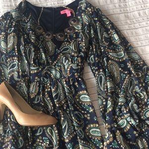 Betsy Johnson Boho Wide Sleeve Dress